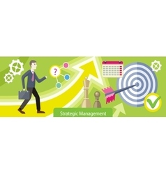 Strategic Management Design Flat vector image vector image