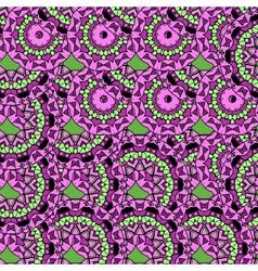 Violet coloured oriental ornate seamless pattern vector