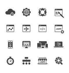 Website Development Icons vector image vector image