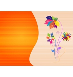Abstract colorful background with flowers vector image vector image