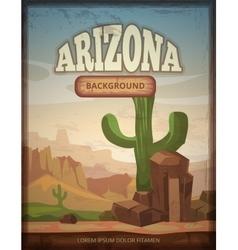 Arizona travel retro poster vector image vector image