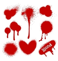 Blood splatters isolated on white vector image vector image