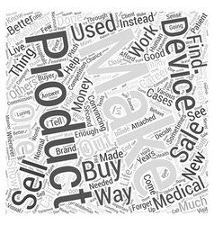 Making a career out of medical devices word cloud vector