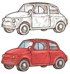 old italian car vector image vector image