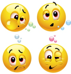 smiley character vector image vector image