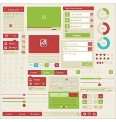 user interface flat design elements vector image