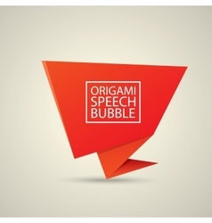 Abstract glossy red speech bubble vector image