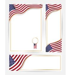 American flag banners set vector