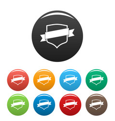 badge icons set color vector image