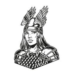 beautiful woman viking warrior vector image