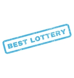 Best Lottery Rubber Stamp vector