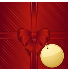 Christmas red gift wrapped background vector
