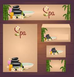 corporate spa design corporate identity template vector image