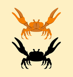 crab flat style front side vector image