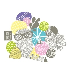 Creative design with smart owl vector