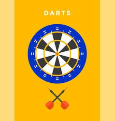 darts sport poster vector image