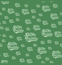 detox drinks seamless pattern vector image