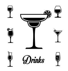 Drinks digital design vector image