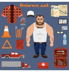 Driver character elements vector