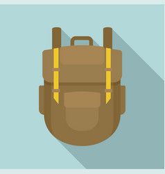 explore backpack icon flat style vector image