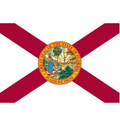 flag usa state florida vector image