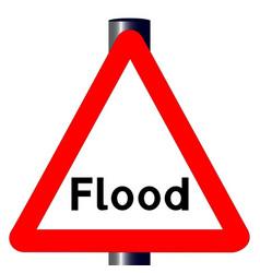 Flood traffic sign vector