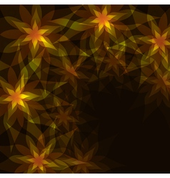 Floral background with decorative pattern vector image