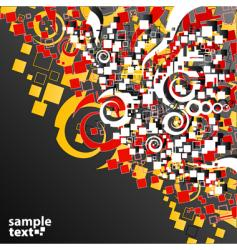 funky art background vector image