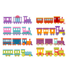 Game gift kids train travel railroad vector