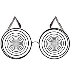 glasses round 1 v vector image
