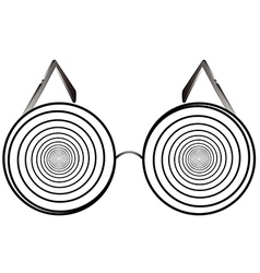 Glasses round 1 v vector