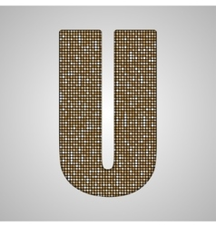 Gold sequins sings Sequins alphabet Eps 10 vector image