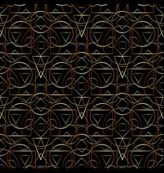 golden geometric pattern vector image