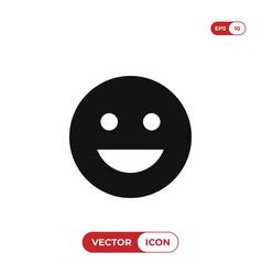 good mood emoticon icon vector image