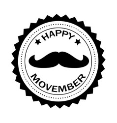 Happy movember banner vector