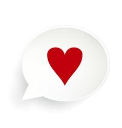 Hearts Speech Bubble vector image
