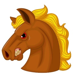 Horse head mascot cartoon character vector image vector image