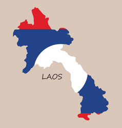 laos flag map vector image