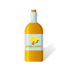 Lemon and honey medicine vector
