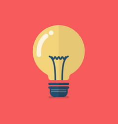 lightbulb icon flat design vector image