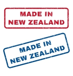 Made In New Zealand Rubber Stamps vector