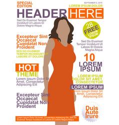 Magazine template vector