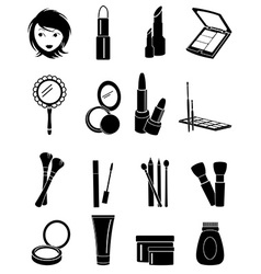 Makeup icons set vector