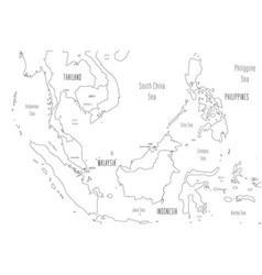 Map greater sunda islands handdrawn doodle vector