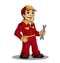 Mechanic man vector