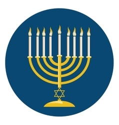Menora For Hanukkah Celebration vector