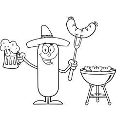 Mexican Sausage Cartoon vector