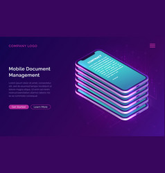 mobile document manager business concept vector image