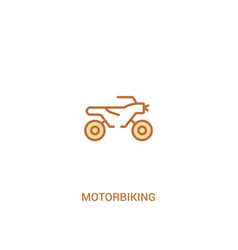 Motorbiking concept 2 colored icon simple line vector