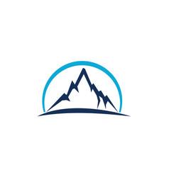 mountain star energy power vector image